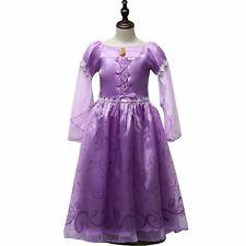 Kids Girls Queen Fancy Tulle Costume Dresses For Formal Pageant Wedding Party