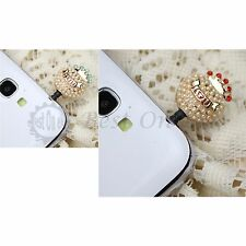 Pearl Crown Earphone Dust Plug For iPhone 3 4 5 5S Samsung Galaxy SIV Note 2 3