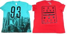 2 NEW MEN'S 3XL AEROPOSTALE GRAPHIC T TEE SHIRT 93 CITY & NEW YORK STAR GRAPHIC