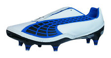 Puma V1.10 K SG Mens Leather Football Boots / Cleats - White Blue - 4303