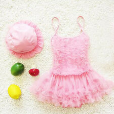2PCS Baby Toddler Girls Swimwear Ruffle Bikini Set Swimsuits Children Swimwear