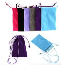 Practical New Soft Velvet Pouch Bag Pocket Purse Case For Cellphone Mobile Phone
