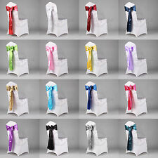 25pcs Satin Chair Sashes Wedding Party Event Banquet Supply Decor 15cm x 275cm