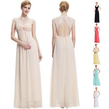 Maternity Sexy Long Evening Prom Party Cocktail Formal Wedding Bridesmaid Dress