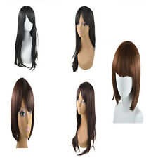 Women Lady Long Short Straight Hair Wig Synthetic Anime Cosplay Party Full Wigs
