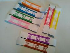 150 Self-Sealing Currency Straps/Bands (Select Your Own Color/Denomination)