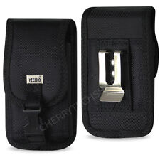 OEM REIKO Heavy Duty Vertical Metal Belt Clip Case with Buckle for Kyocera Phone