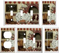 FAT CHEF KITCHEN DECOR LIGHT SWITCH COVER PLATE OR OUTLET V335