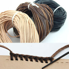 3 Color Flat  2mm/3mm/5mm Real Genuine Leather Thong String Cord