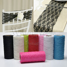 """5 Rolls 6"""" x 10yards Lace Roll Ribbon Tulle DIY Chair Sash Wedding Supply Party"""