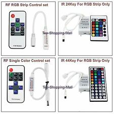 Mini Wireless RF IR Remote Controller Dimmer 5630 3528 5050 LED Strip Light Tape