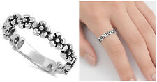 Sterling Silver 925 HAWAIIAN PLUMERIA FLOWER DESIGN RING 6MM SIZES 4-12