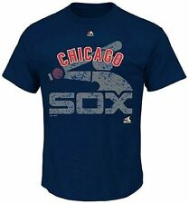 Chicago White Sox Majestic League Domination Mens Navy Shirt Big & Tall Sizes