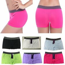 Women Yoga Gym Dancing Sport Shorts Spandex Elastic Pants Safety Underwear