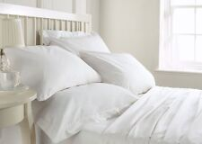 Offer Sale ! 800 1000 1200 1500 TC White Solid Bedding Sets 100% Cotton All Size