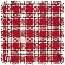 Breckenridge Rustic Primitive Country Cottage Red Plaid Cotton Burlap Tablemat