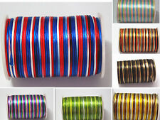Multicolor 2mm Nylon Satin Rattail Cord Macrame Kumihimo Beading Craft String