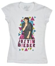 Justin Bieber black White triangles   Concert official Licensed  Youth shirt