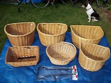 Wicker Bicycle Bike Cycle Basket 16 18 20`D` Shaped Rectangular. Support Bracket