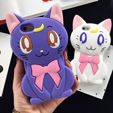 Cute Cartoon 3D Bow Cat Sailor Moon soft Silicone Case for iPhone 6 6S Plus