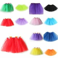 Lovely Kids Girls Ballet Dance Tutu Costumes Party Princess Skirt 3 Layer Dress