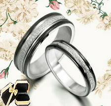 Groom&Bride Black Wedding Engagement Anniversary Bands Titanium Rings GM010A1