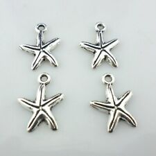 15/60/500pcs Tibetan Silver/Bronze Starfish Charms Pendants for Jewelry Findings