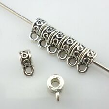 50/250/2000pcs Tibetan Silver Connectors Spacer Bail Bead Charms Jewelry Making