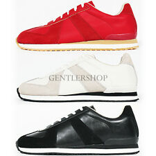 Men's Fashion Shoes Faux Suede Leather Combi Lace Up Jogger Sneakers 772,GENTLER