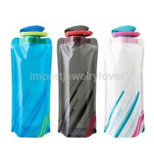 750mL Foldable Outdoor Sports Cycling Camping Water Bottle Bag BPA-Free Reusable