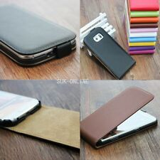 Luxury Magnetic Vertical Flip Genuine Real Leather Phone Case Cover For HTC