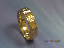 New.Wedding Ring Band,Gold Plated,Stainless Steel.6 mm wide.