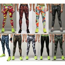 Pro Mens Compression Under Base Layer Skin Trousers Gym Sport Running Long Pants