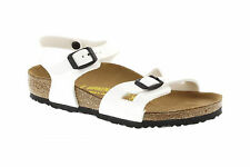 Birkenstock Kids  Rio 0931133 White (Narrow Fit) - White Patent Sandals