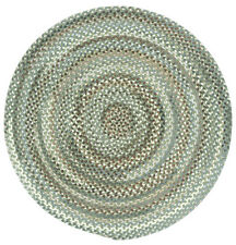 Capel Rugs Sherwood Forest Wool Country Braided Area Round Rug Olive #250