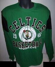 BOSTON CELTICS Long Sleeve Shirt GREEN & BLACK M L XL 2X