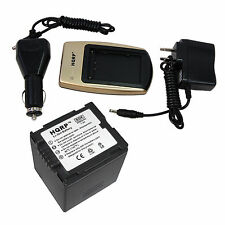 Battery and Battery Charger for Panasonic NV PV SDR VDR Series Camcorder