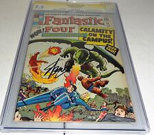 Fantastic Four #35 CGC SS Signature STAN LEE 1st Dragon Man 2nd Diablo Professor