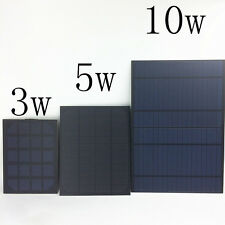 solar panel 10w 5w 3w with usb charger cable and 12v 5v charger- phone powerbank