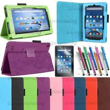 NEW Luxury PU Leather Magnetic Folio Cover case for 2015 Amazon Kindle Fire 7