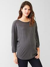 GAP MATERNITY DOLMAN SLEEVE SHIRT  TSHIRT  TOP (soft black:dark gray)