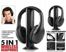 5 in 1 Wireless Headphone Earphone Cordless Headset for MP3 TV FM PC iPod Stereo
