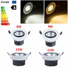 Dimmable COB 6W 9W 12W 15W LED Downlight Bulb Recessed Ceiling Lamp Spotlight