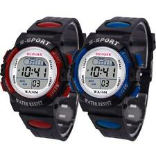 Waterproof Children Boys Kids LED Digital Sports Watch Alarm Date Wrist Watch