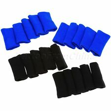 10pcs Elastic Stretchy Finger Sleeve Wrap Support Protector Aid Arthritis Strap
