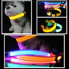 Collar Nylon Adjustable Fresh Safety Dog LED Pets Cat Night Flashing Neck Collar