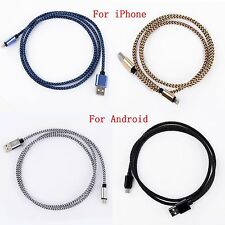 1M/3Ft Braided USB /Micro USB Data Sync Charger Cable Cord for iPhone 6 Samsung