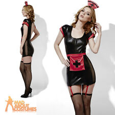Adult Fever Role Play Midnight Nurse Costume Ladies Doctor Fancy Dress Outfit