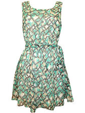 Ladies Plus Size Sleeveless Abstract Print Skater Dress by Marianne 10 12 22