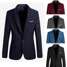 2016 New Stylish Men's Casual Slim Fit One Button Suit Blazer Coat Jacket Tops